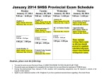 January 2014 Exam Schedule