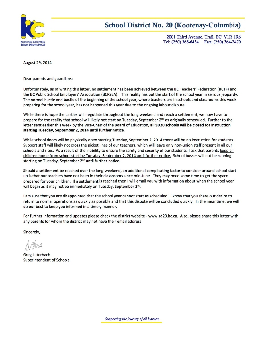 letter to the school board supporting physical education